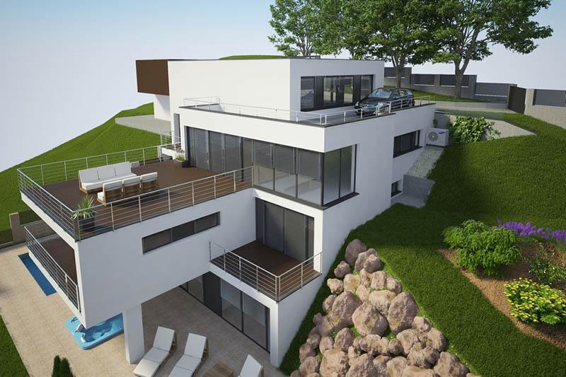 Moderný rodinný dom vo svahu v Banskej Bystrici