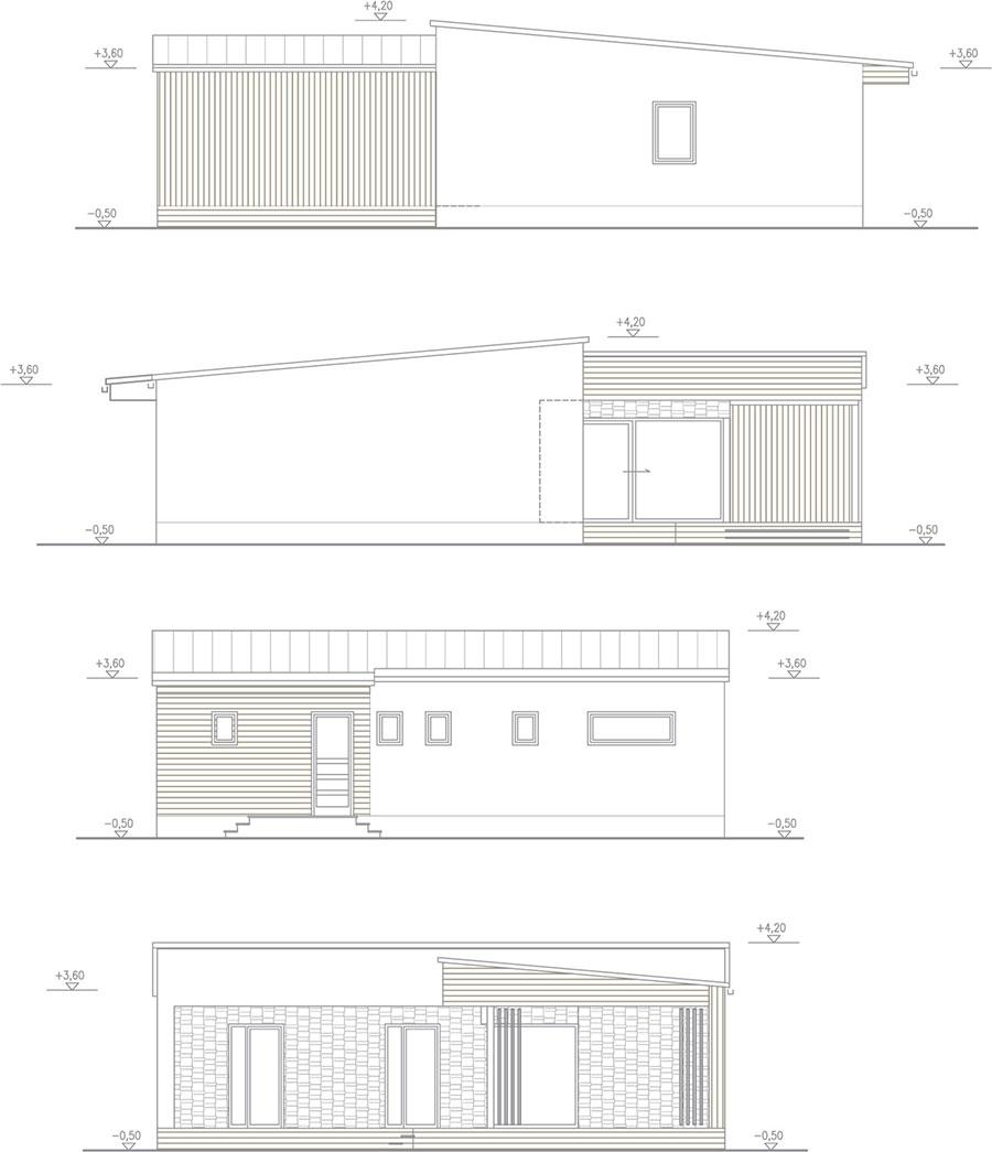 Arnica - bungalov na kľúč - 4+kk s terasou - bočné pohľady | STAVMAXBB