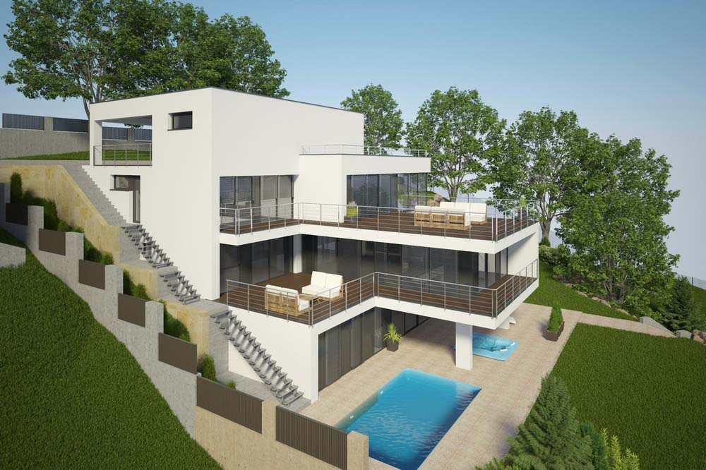 Projekt luxusného dom na kľúč | STAVMAXBB